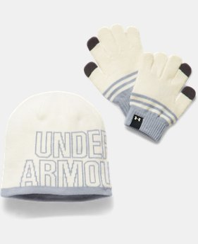 Girls' UA Beanie & Glove Combo Pack  3 Colors $29.99