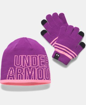 Girls' UA Beanie & Glove Combo Pack  3 Colors $34.99