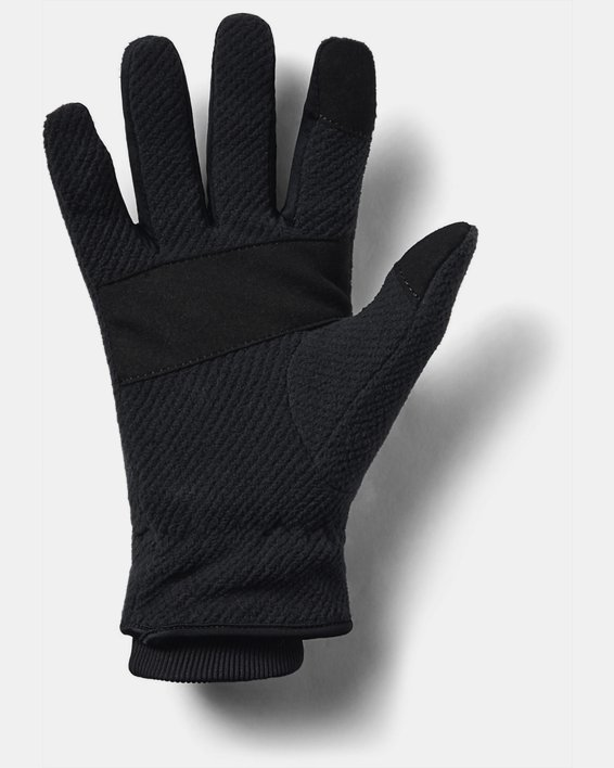Women's UA ColdGear® Infrared Fleece Gloves, Black, pdpMainDesktop image number 3
