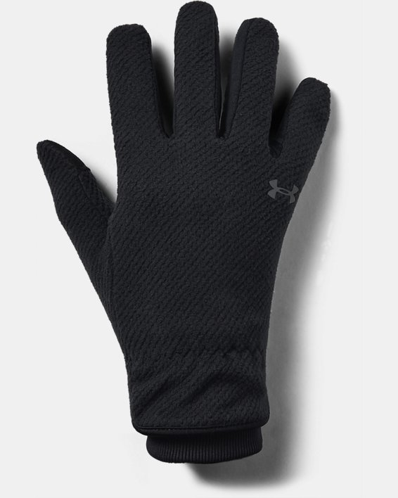 Women's UA ColdGear® Infrared Fleece Gloves, Black, pdpMainDesktop image number 2