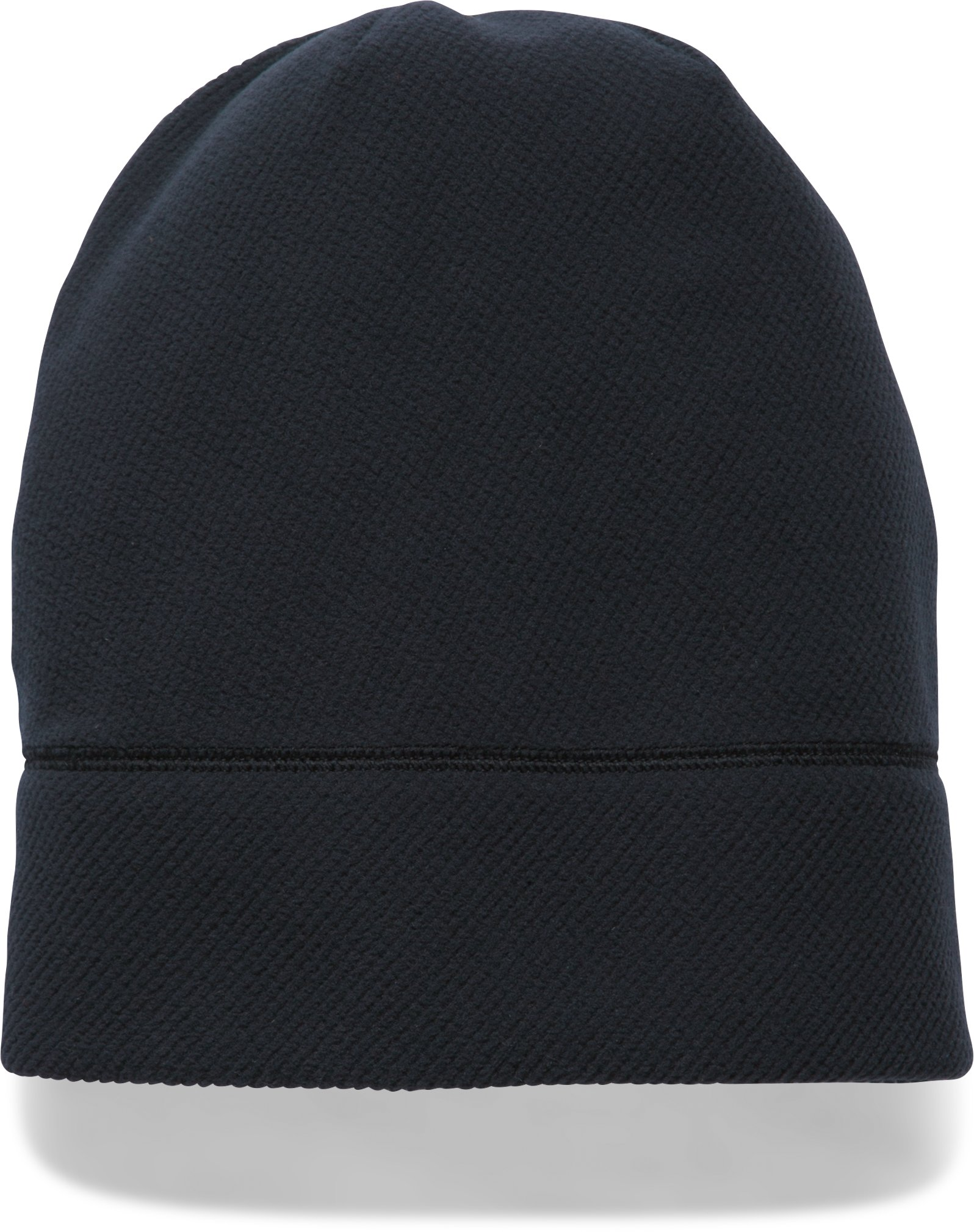 Women's UA ColdGear® Infrared Fleece Beanie, Black , undefined
