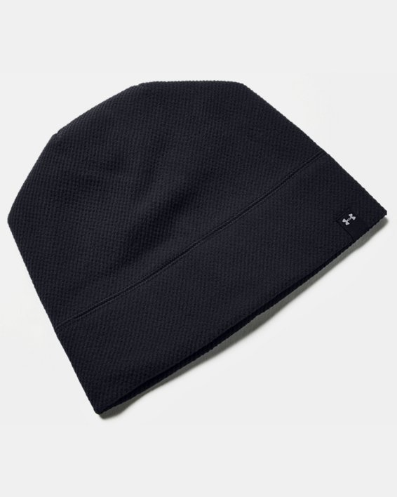 Women's UA ColdGear® Infrared Fleece Beanie, Black, pdpMainDesktop image number 3