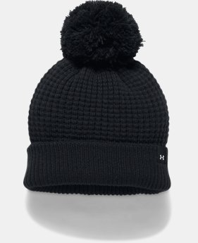 Women's UA Favorite Waffle Pom Beanie  2  Colors Available $24.99