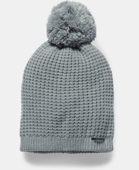 Women's UA Favorite Waffle Pom Beanie  1  Color Available $29.99