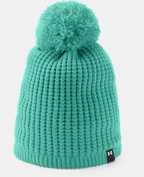 Women's UA Favorite Waffle Pom Beanie  3  Colors Available $29.99