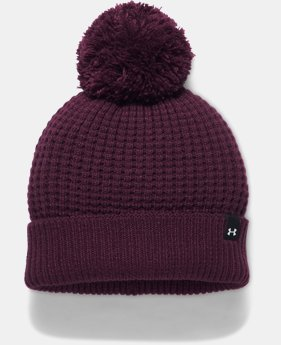 Women's UA Favorite Waffle Pom Beanie LIMITED TIME OFFER 1 Color $20.99