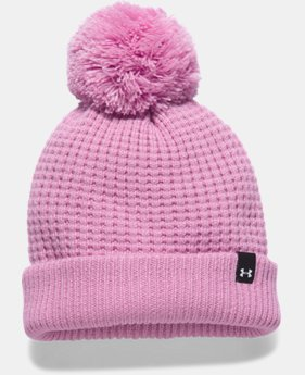 Women's UA Favorite Waffle Pom Beanie LIMITED TIME OFFER 1 Color $17.49