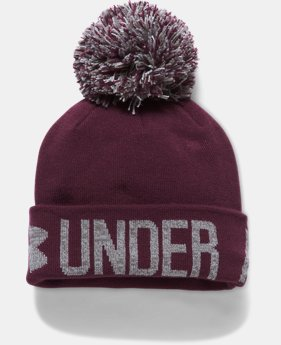 Women's UA Graphic Pom Beanie LIMITED TIME OFFER 1 Color $19.59