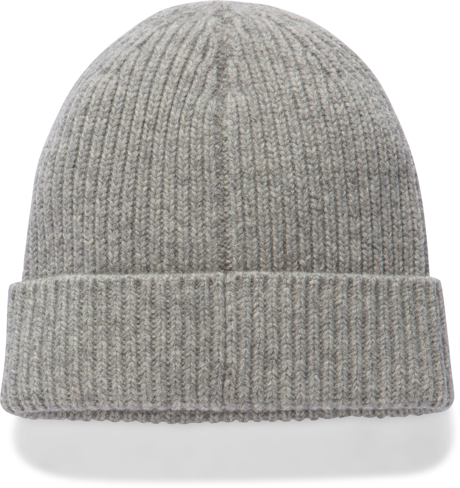 Women's UA Charged Wool Beanie, True Gray Heather,
