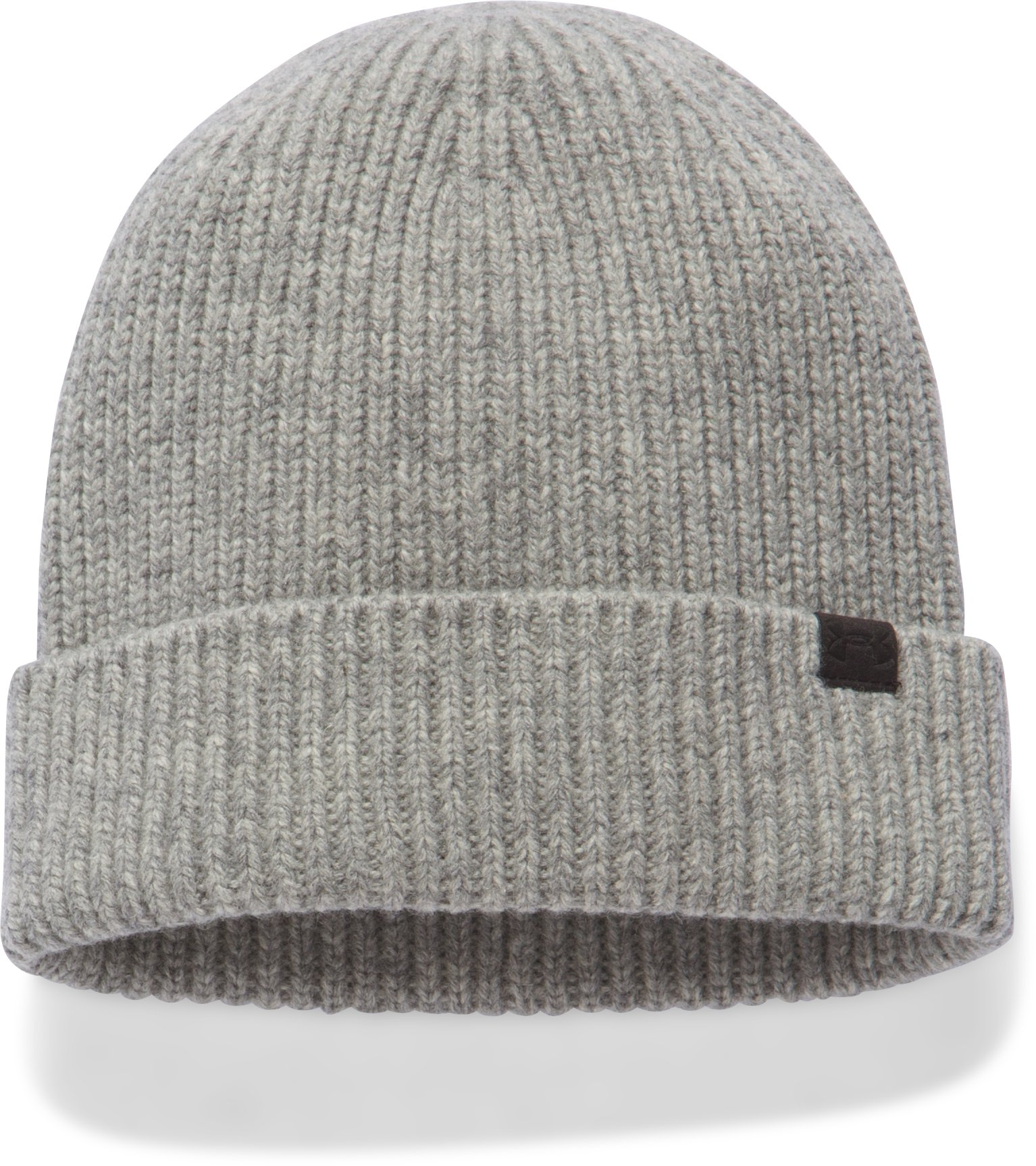 Women's UA Charged Wool Beanie, True Gray Heather