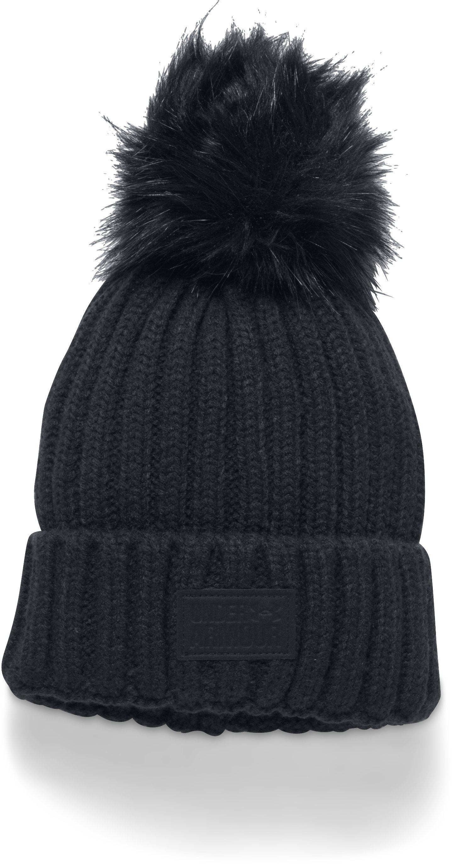 Women's UA Snowcrest Pom Beanie, Black , undefined