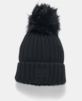 Women's UA Snowcrest Pom Beanie  1  Color Available $34.99