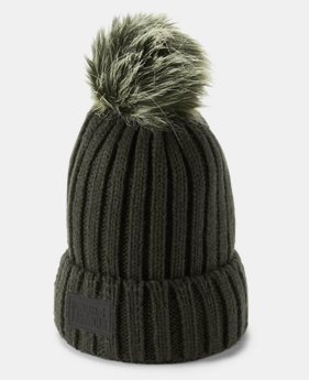 Women's UA Snowcrest Pom Beanie  4  Colors Available $34.99