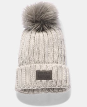 Women's UA Snowcrest Pom Beanie  2  Colors Available $34.99