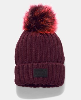 Women's UA Snowcrest Pom Beanie LIMITED TIME OFFER 1 Color $27.99