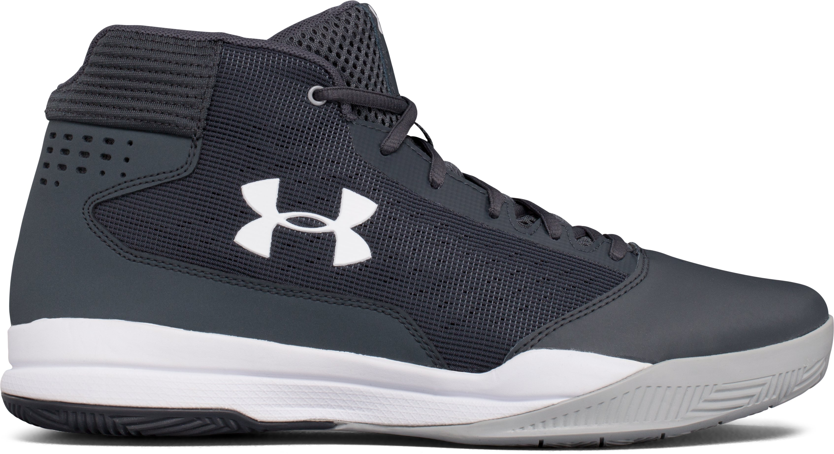 Men's UA Jet 2017 Basketball Shoes, STEALTH GRAY, undefined
