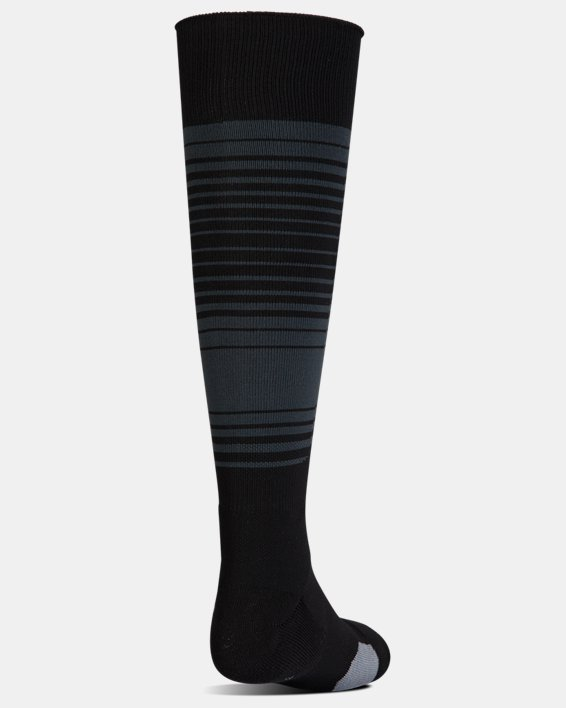 Kids' UA Global Performance Over-The-Calf Soccer Socks, Black, pdpMainDesktop image number 2