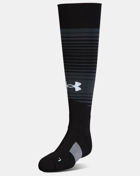 Kids' UA Global Performance Over-The-Calf Soccer Socks, Black, pdpMainDesktop image number 0