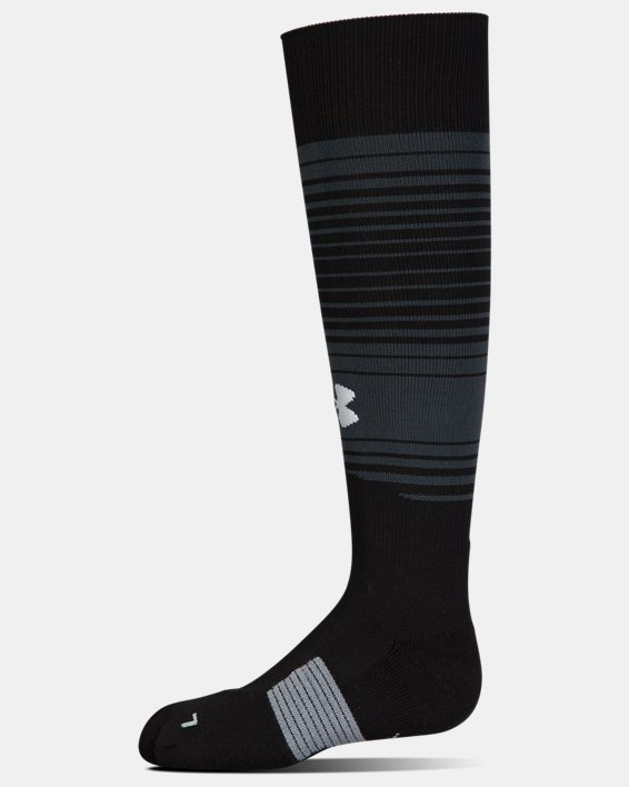 Kids' UA Global Performance Over-The-Calf Soccer Socks, Black, pdpMainDesktop image number 3