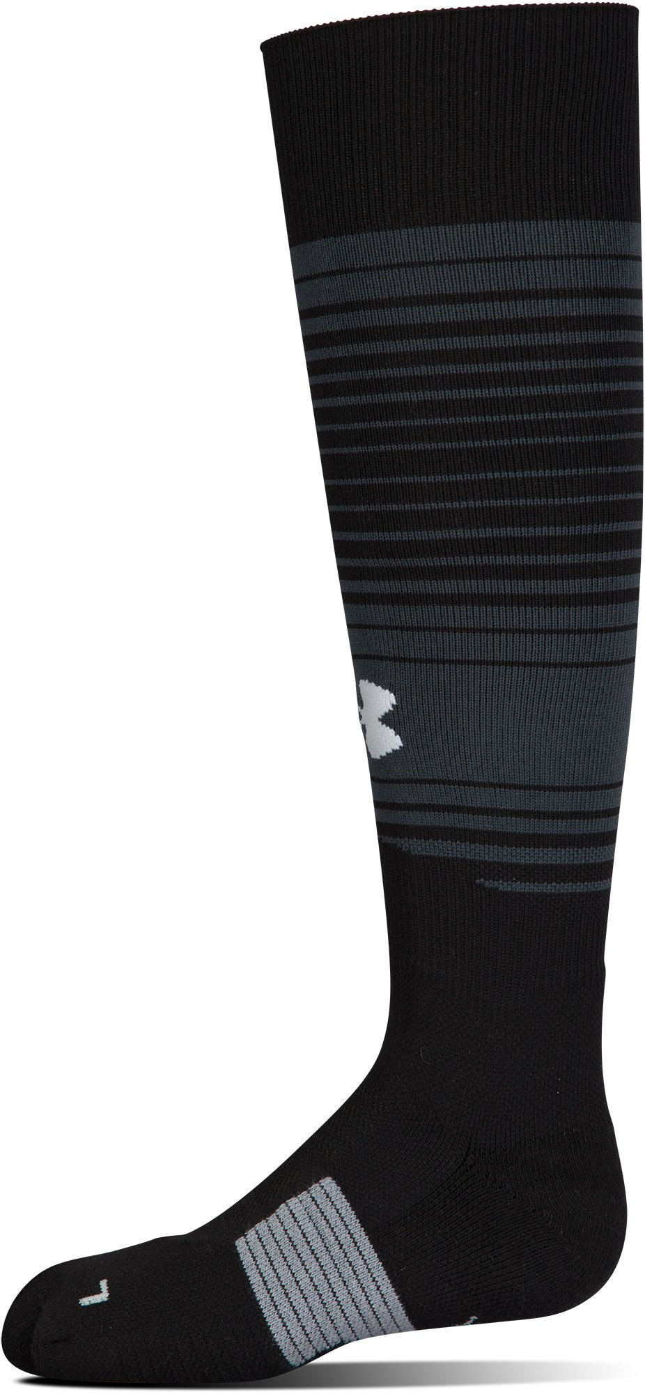 Kids' UA Global Performance Over-The-Calf Soccer Socks, Black , undefined