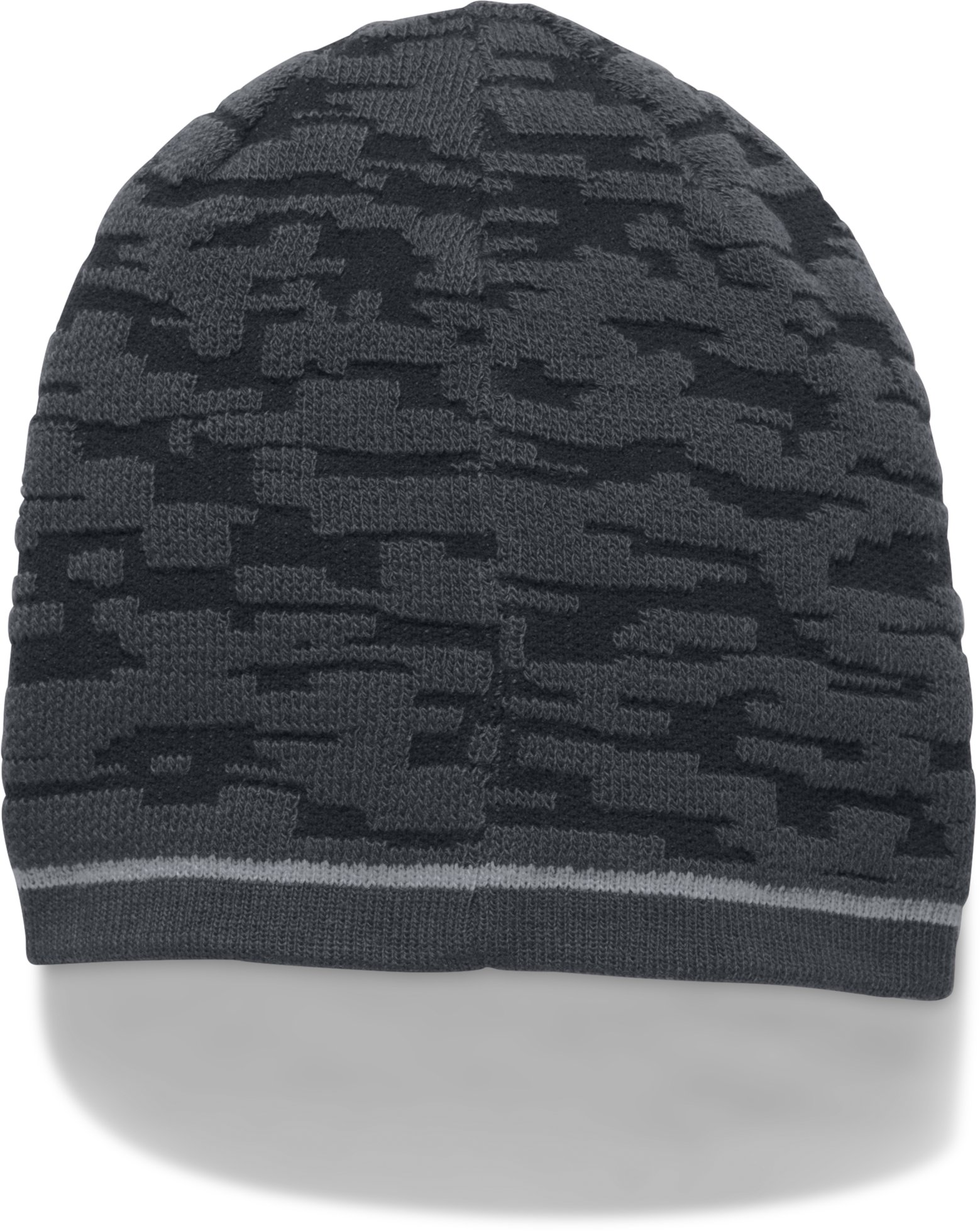 Men's UA Reversible Graphic Beanie, Black , undefined
