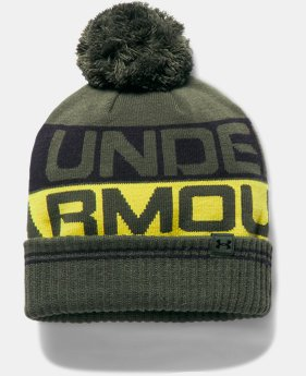 Men's UA Retro Pom 2.0 Beanie LIMITED TIME OFFER 1 Color $19.59