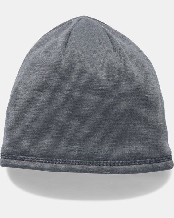 Men's UA Storm ColdGear® Reactor Beanie, Gray, pdpMainDesktop image number 1