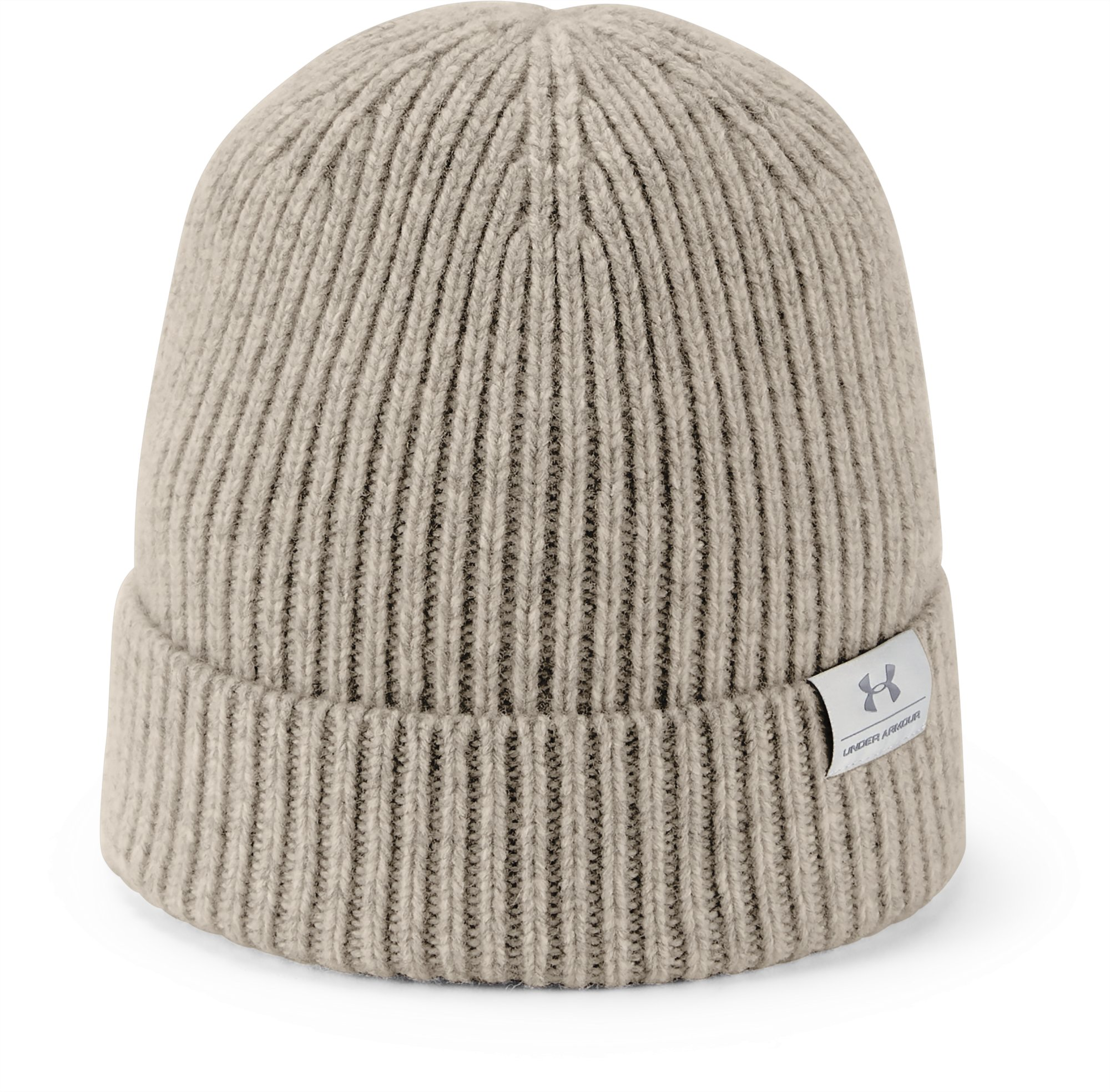 UA Men's Wool Beanie, City Khaki, zoomed