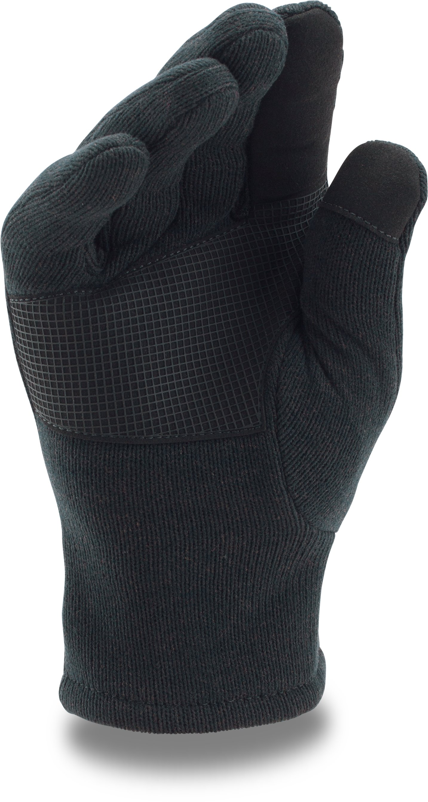 Men's UA Charged Wool Knit Gloves, Black ,