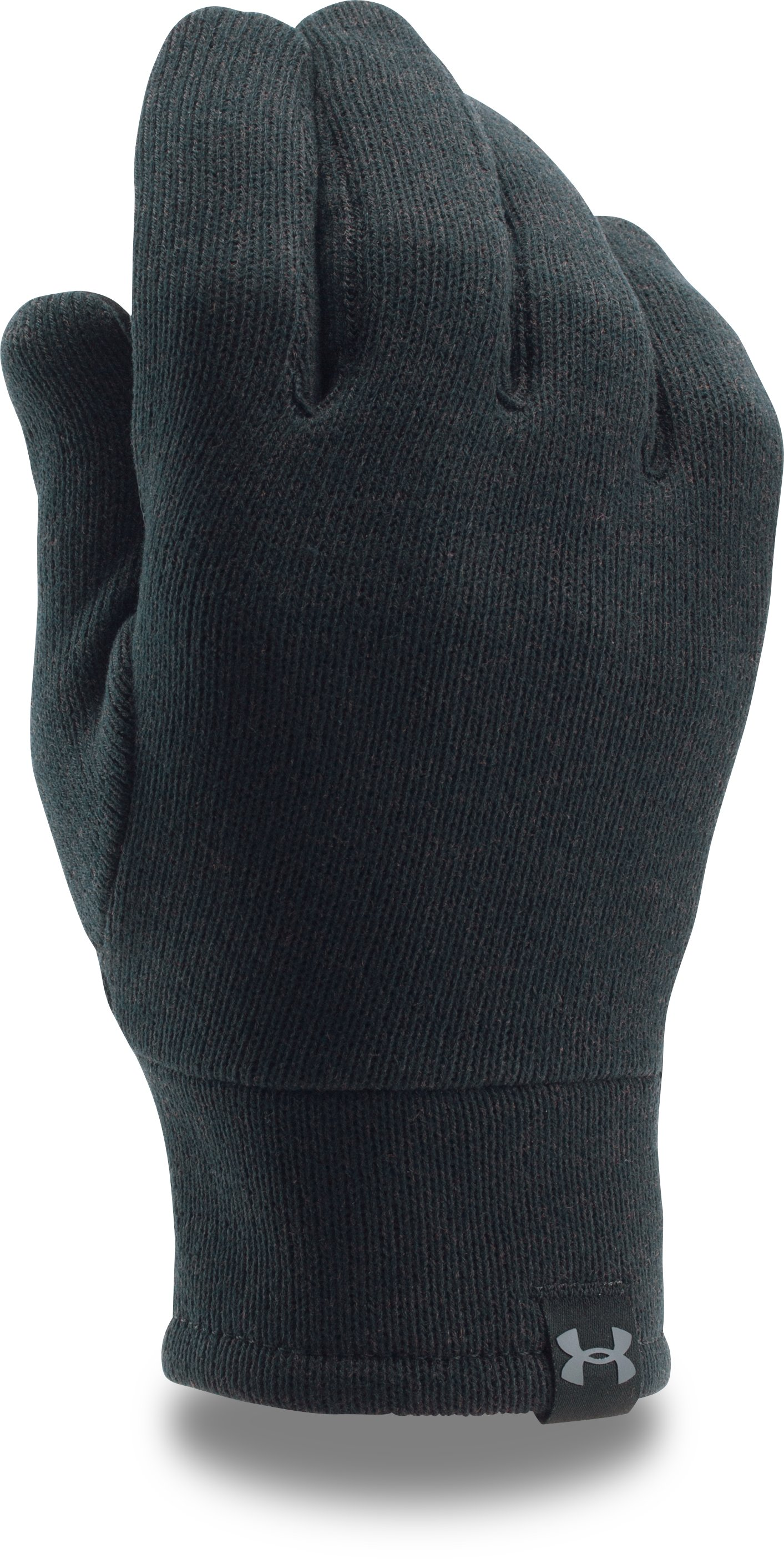 Men's UA Charged Wool Knit Gloves, Black