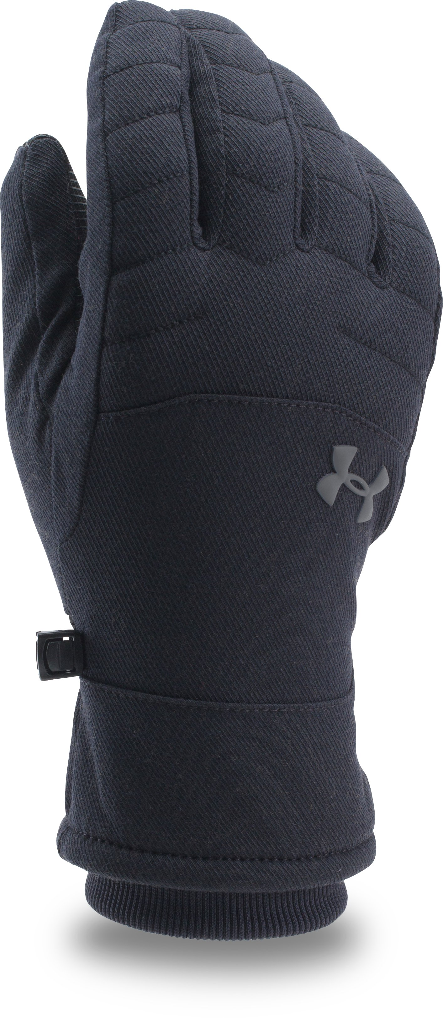 Men's UA Reactor Quilted Gloves, Black