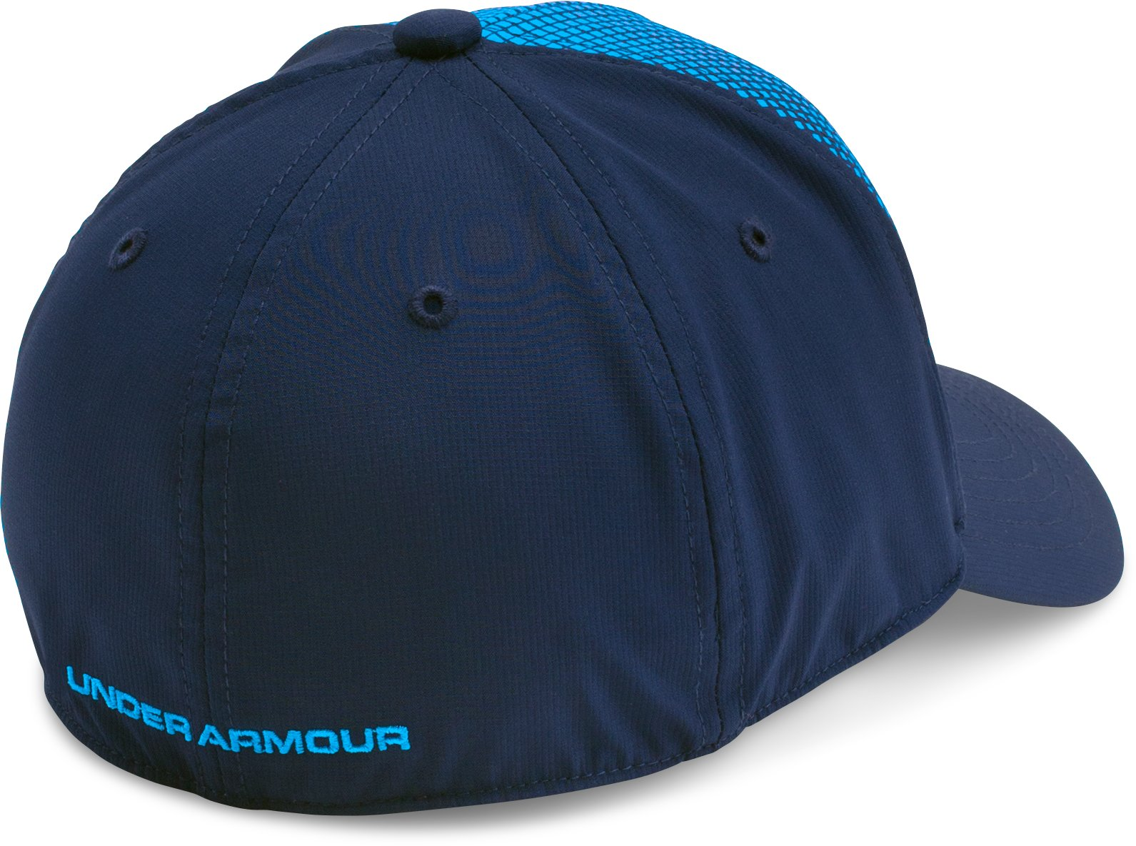 Boys' UA Fade Curved Visor Stretch Cap, Midnight Navy, undefined