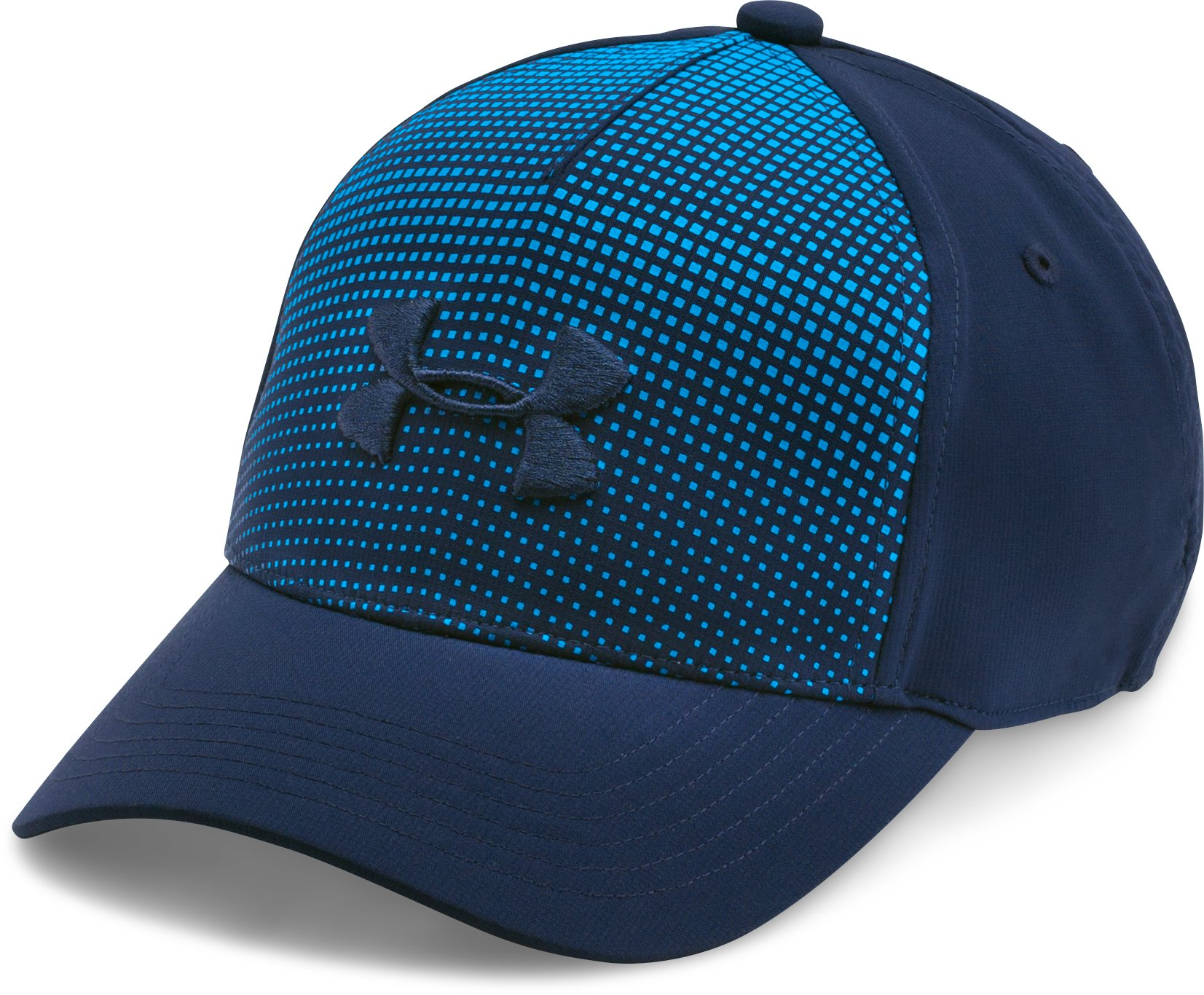 Boys' UA Fade Curved Visor Stretch Cap, Midnight Navy