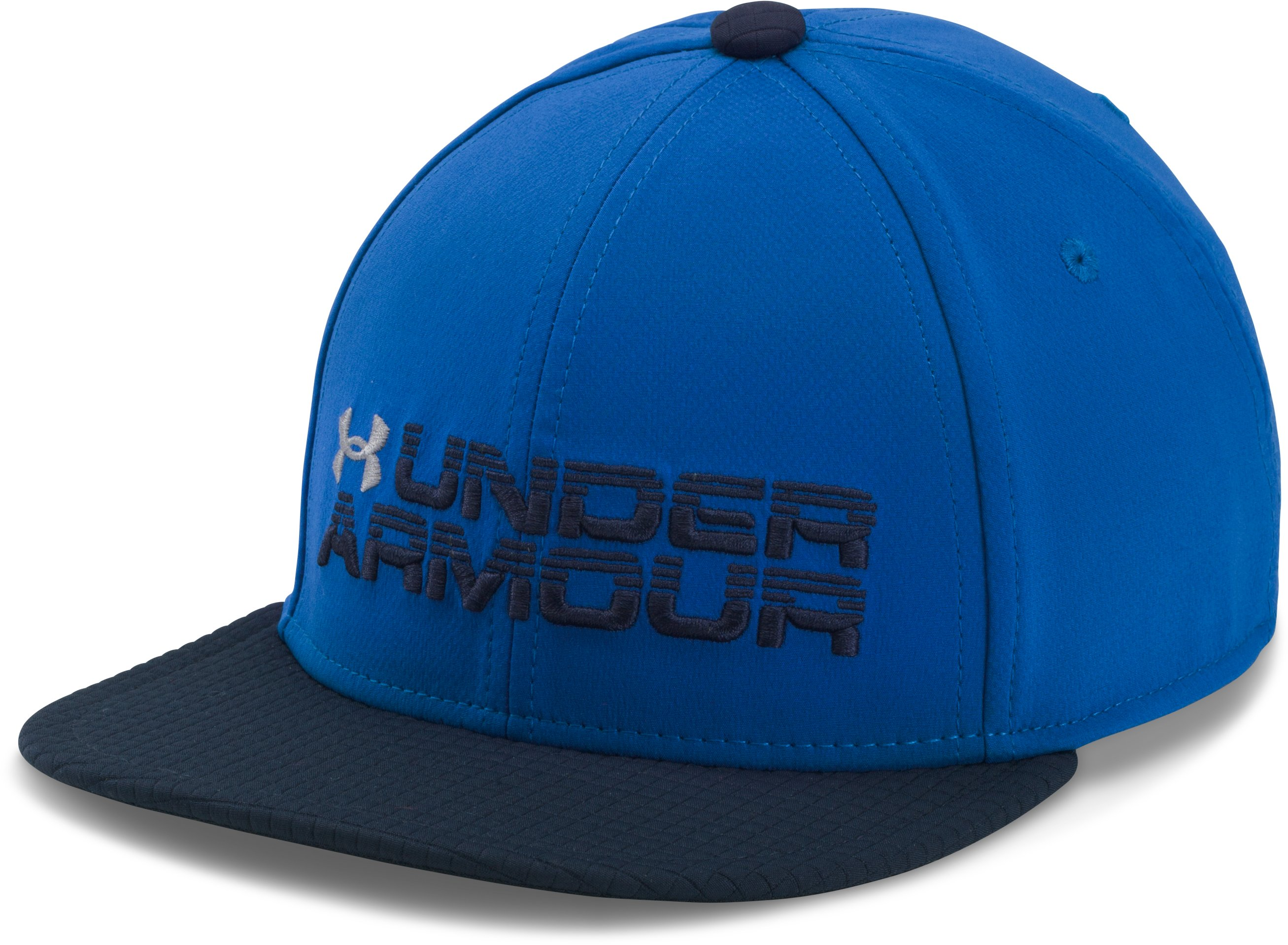 Boys' UA Grid Flat Brim Cap, ULTRA BLUE,