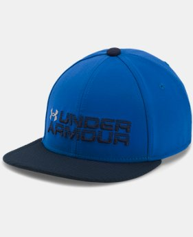 PRO PICK Boys' UA Grid Flat Brim Cap  2 Colors $24.99
