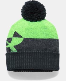 Boys' UA Pom Beanie LIMITED TIME OFFER 1 Color $20.99