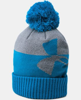 Boys' UA Pom Beanie  3  Colors Available $24.99