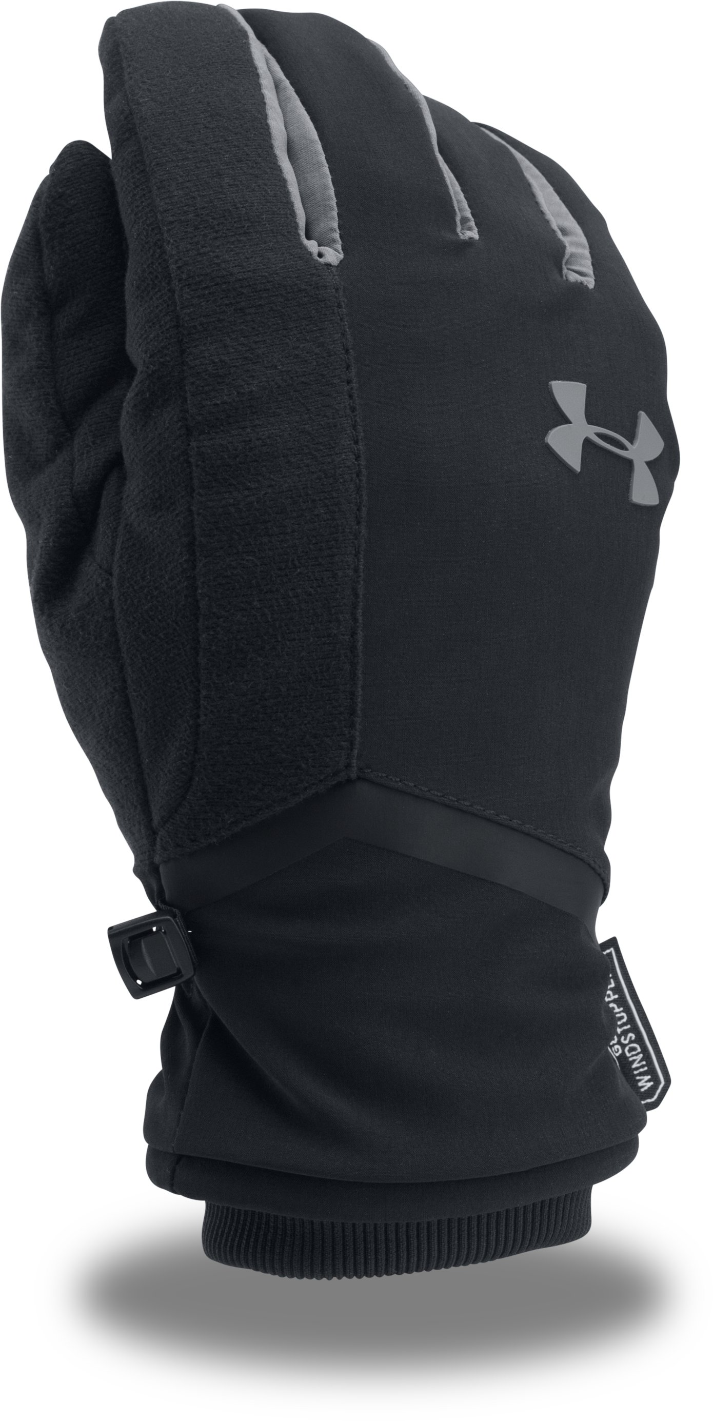 Men's UA WINDSTOPPER® 2.0 Gloves, Black , zoomed image