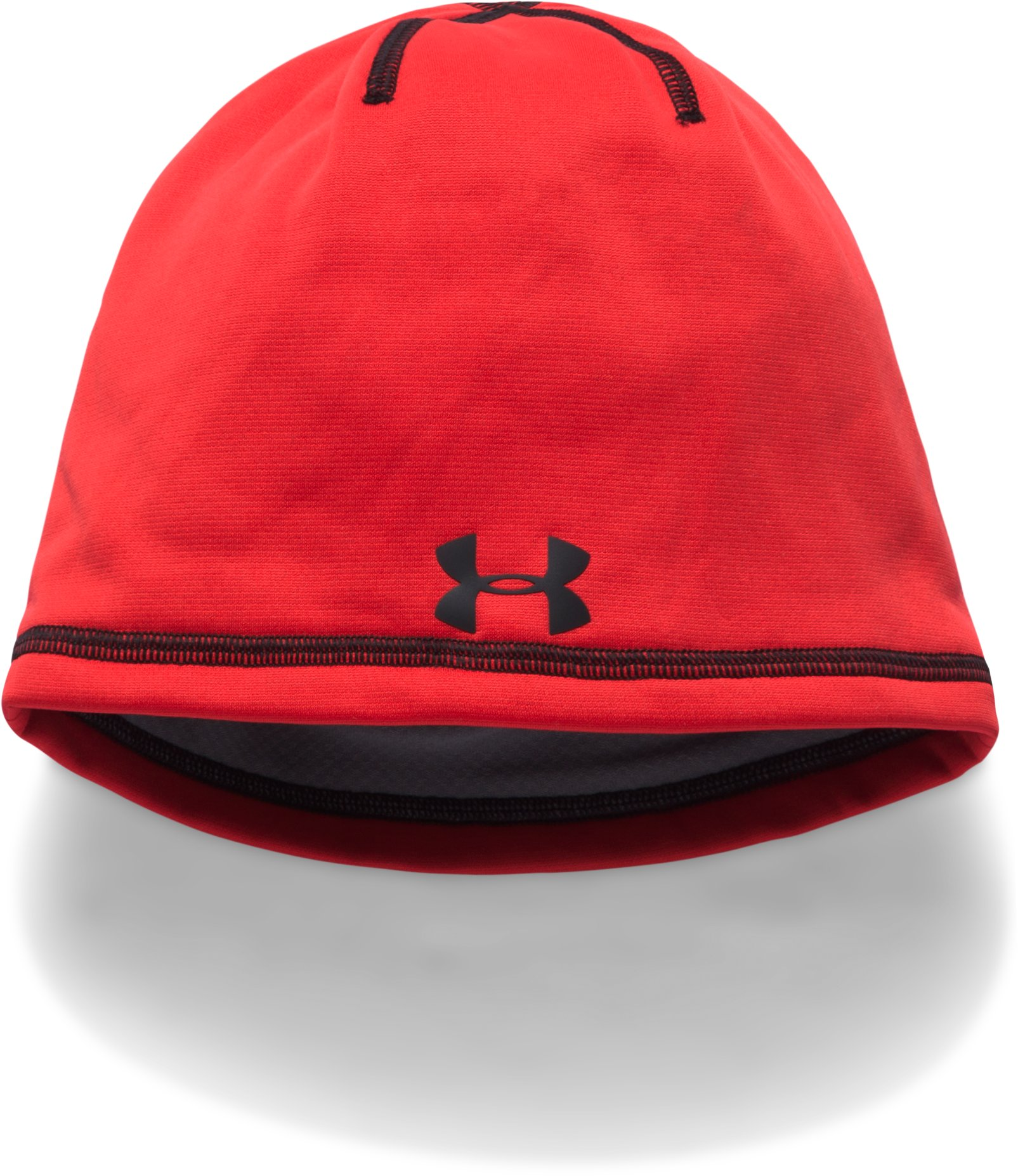 Boys' ColdGear® Reactor Beanie, Red