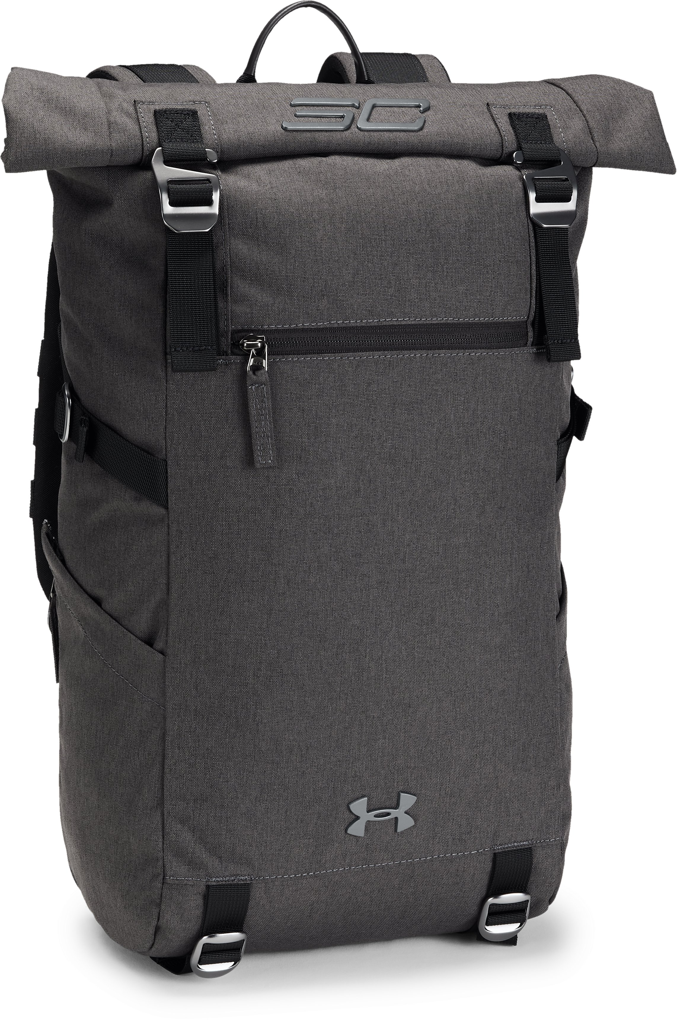 SC30 Signature Rolltop Backpack, BLACK FULL HEATHER,