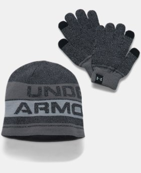 Kids' UA Beanie & Glove Combo Set 2.0 LIMITED TIME OFFER 1 Color $24.49