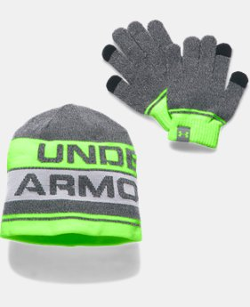 Kids' UA Beanie & Glove Combo Set 2.0 LIMITED TIME OFFER 1 Color $20.99