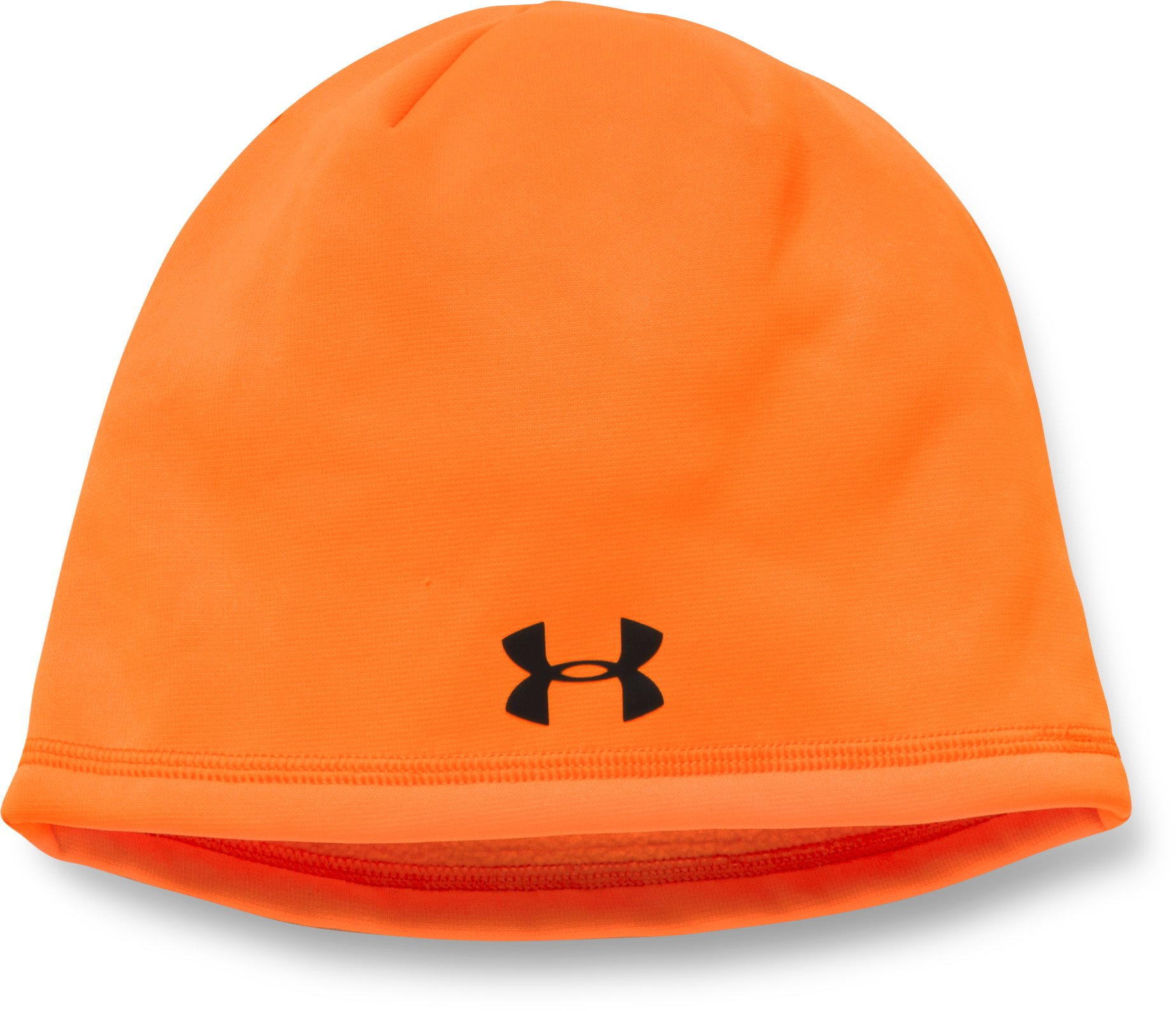 Men's UA Camo Outdoor Fleece Beanie, Blaze Orange, undefined