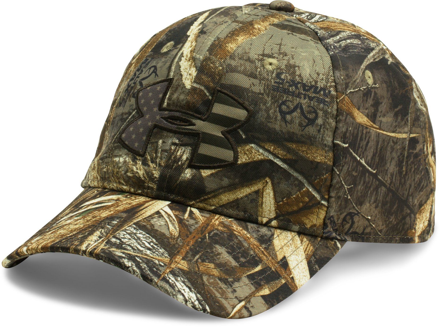 Men's UA Camo Big Flag Logo Cap, REALTREE MAX 5