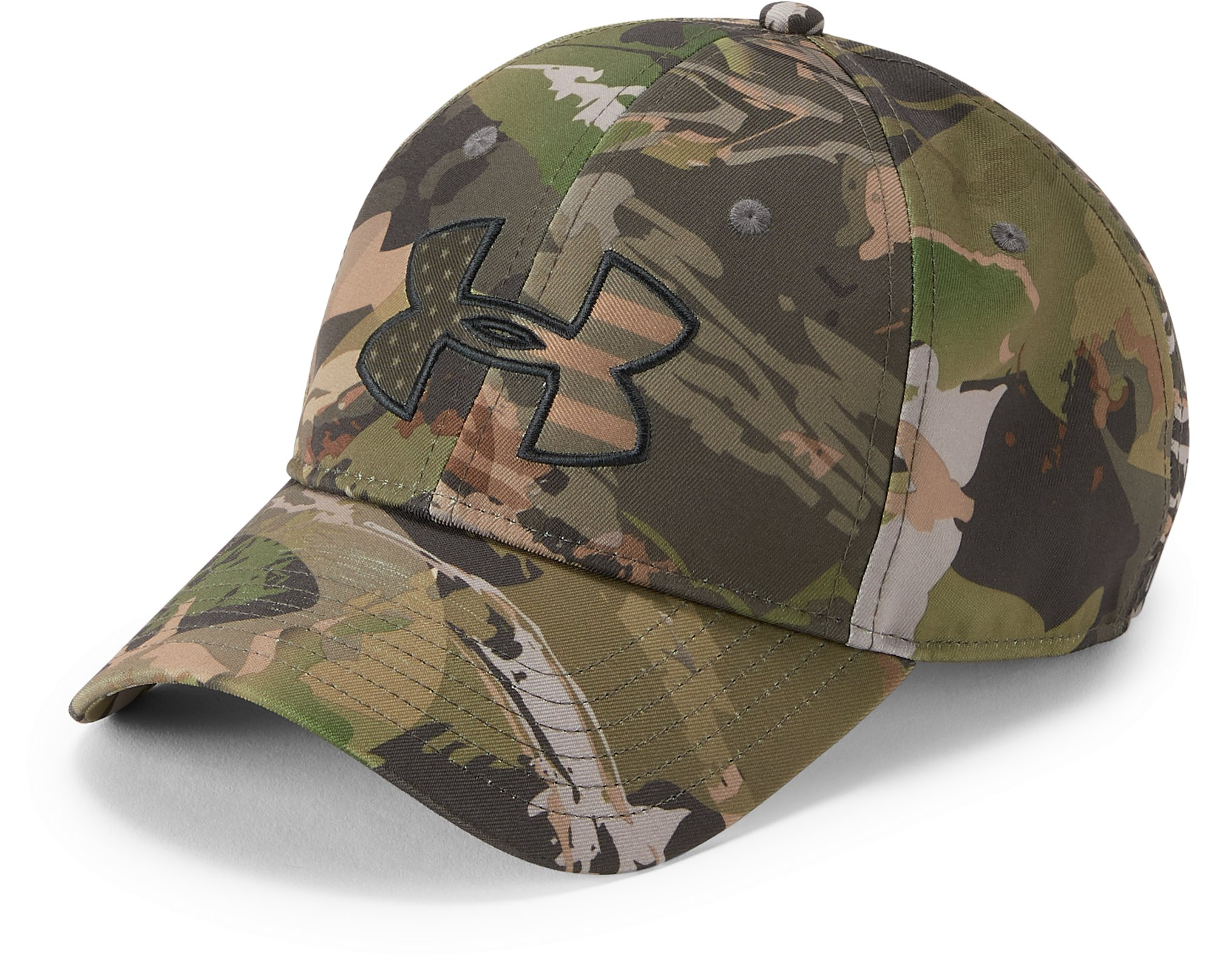 Men's UA Camo Big Flag Logo Cap, UA FOREST CAMO