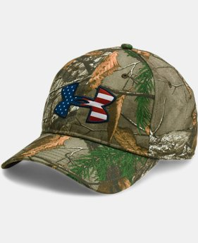 New to Outlet Men's UA Camo Big Flag Logo Cap  1  Color $20.99