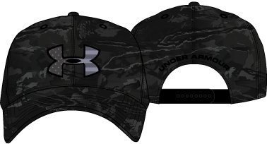 Men's UA Camo Big Flag Logo Cap, UA Black Tonal Camo,