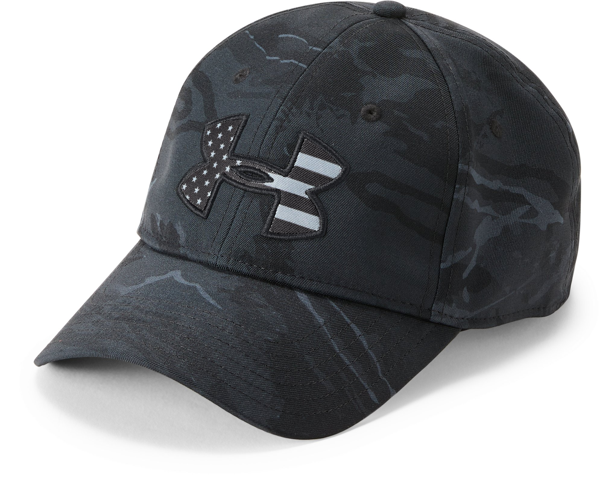 Men's UA Camo Big Flag Logo Cap, UA Black Tonal Camo