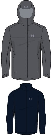 Men's UA Porter 3-in-1 Jacket, RHINO GRAY