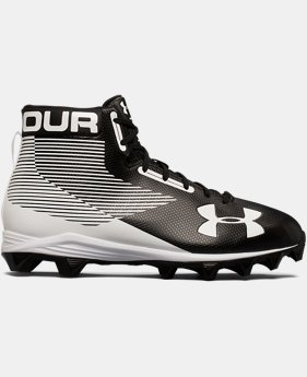 New Arrival Men's UA Hammer Mid Rubber Molded Wide Football Cleats  1  Color $49.99